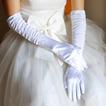 Biela plná prstová teplá taffeta frituje hrubé svadobné rukavice