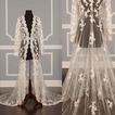 Čipka svadobné šaty s dlhým rukávom kabát nevesta šál kabát kabát