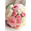 Diamantová perla jednoduchá atmosférická ručná kytica kvetov čestná matrona