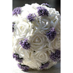 Biele svadobné kytice z držanie darček Svadobné kytice darček manuálna simulácia