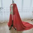 Šifónový šál svadba jednoduchý šál nevesta elegantný šál dlhý 2M
