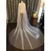 Jednoduchý svadobný závoj 3M s plášťom tylu