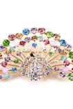 Retro Peacock Inlaid diamantová zliatina zo zliatiny zvieraťa