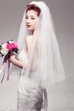 Svadobné Veil Tiered krátke transparentné tajomné Glamour Spring
