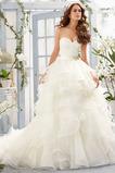 S hlbokým výstrihom Romantické Prírodné pása Bez rukávov Poroka Obleko