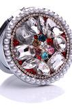 Luxusný kruh vložený diamant skladacie kreslené ozdoby