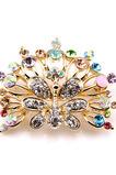 Phoenix najvyššej triedy nádherné zliatiny vyložené diamant brož