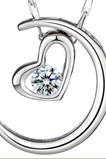 Strieborné pokovovanie srdce v tvare dekorácie Hot sale náhrdelník prívesok