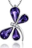 Dragonfly Ženy Krištáľovo fialové striebro dodáva veľkoobchodný náhrdelník