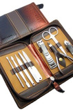 Nerezová oceľ 9 kusov PU kožené puzdro z najvyššej kvality
