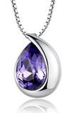 Veľkoobchod Silver srdce v tvare módne krištáľové žien náhrdelník