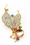 Veľkoobchod Ženy Inlaid diamant Nový štýl Crystal Pin Brož