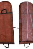 Hnedá dvojitá prenosná prachová obalová taška, ktorá sa skladá z veľkého svadobného prachového krytu