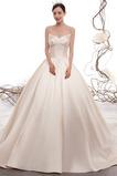 Dlho Zavesený Elegantný Vonkajšie Atlas A Riadok Svadobné šaty