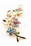 Vložené diamanty Hot sale Ženy Príslušenstvo Crystal Leaf Brooch