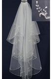 Svadobné Veil Pearly White Perler Biele Jarné šortky Svadobné šaty Bohyňa