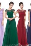 Širokým hrdlom Jeseň Čipkou Overlay A-Riadok Skladaný živôtik Družičky šaty