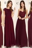 Členok dĺžka A Riadok Zavesený Prírodné pása Elegantné Družičky šaty