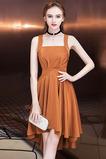 Elegantné Bez rukávov Spandex Zavesený Prírodné pása Koktejlové šaty