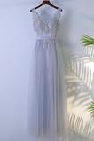 Zips nahor A Riadok Viacvrstvový Večierok Tyl Elegantné Družičky šaty