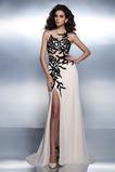 Výšivka Elegantné Klenot Bez rukávov Prírodné pása Večerné šaty