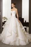 A Riadok Cirkevné Dĺžka podlahy S hlbokým výstrihom Svadobné šaty