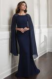 Šifón Zips hore Širokým hrdlom Klasický Letné Chýbať Matné šaty
