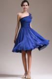 Asymetrické rukávmi Prírodné pása Tmavo modrá Jedno rameno Družičky šaty