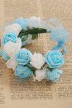 Biela a svetlo modrá Sladká princezná detský veniec krúžok krúžok