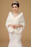 Gombík zimná hala Super dlhá hrubá svadobná šatka zo slonoviny