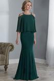 Morská panna Off rameno Jeseň Svadobné Chýbať Dlhé Matné šaty
