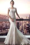 S hlbokým výstrihom Off rameno Elegantné Zimné Poroka Obleko