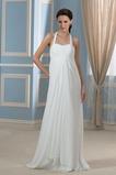 Ohlávke S hlbokým výstrihom Ríša pasu Jar Elegantné Svadobné šaty