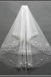 Chic S hrebeňovými krimpami Veľkosť môže byť prispôsobená bielemu svadobnému závoju