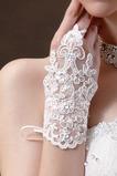 Svadobné rukavice Čipka Fabric Decoration Pearl Summer Mitten Short