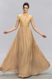 Jeseň Svadobné Tričko Krátke rukávy Formálne Čipka Večerné šaty