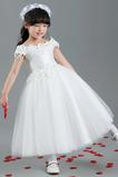 Krátke rukávy Chýbať Svadobné Tričko Formálne Kvetinové šaty