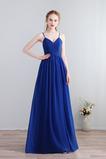Šifón Elegantné Čalúnené Prírodné pása Členok dĺžka Družičky šaty