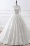 Dĺžka podlahy Off rameno Elegantné Hruška Prírodné pása Svadobné šaty