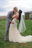 Svadobný závoj krátky s hrebeňom biela dlhá jar