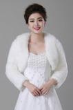 Tlustý Hall Jacket Dlhý teplý biely svadobný šál