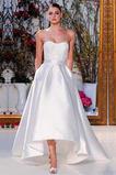 S hlbokým výstrihom Bez ramienok Bez rukávov Obdĺžnik Svadobné šaty