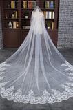 Svadobné Veil Slonoviny Formal s hrebeňom Zimné Long Lace Fabric