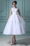 Bez rukávov Prírodné pása Krátky Luk Letné Vonkajšie Svadobné šaty