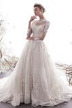 A Riadok Zimné Čipka Číre zadné Luxusným Vonkajší Poroka Obleko