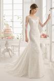 Jeseň Bez pasu Ilúzia rukávmi Zips nahor Očarujúce Svadobné šaty