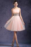 Vysoká zahrnuté Dĺžka kolena Prírodné pása Perla ružová Stužková Šaty