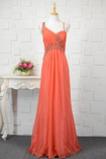 S hlbokým výstrihom Šifón Luxusným Prírodné pása Večerné šaty