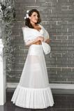 Sviatočné svadobné šaty Celé šaty Ročník vinobranie Biele Terylene Dve ráfy