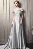 A Riadok Pružina Elegantné Limitovaný rukávy Nášivky Večerné šaty